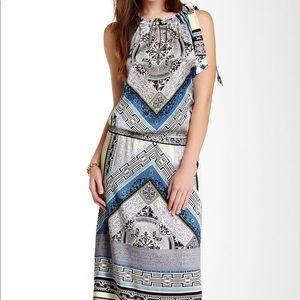 Hale Bob Halter Silk Blend Maxi Dress L NWT